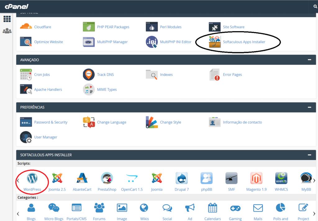 instalar o WordPress no Cpanel3