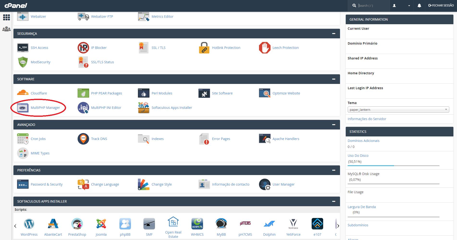 Atualização do PHP Multi Manager