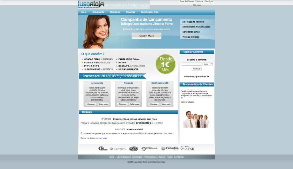 LusoAloja website 2009 10 anos