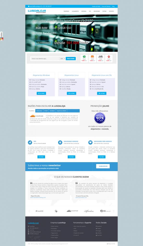 LusoAloja website 2015 10 anos
